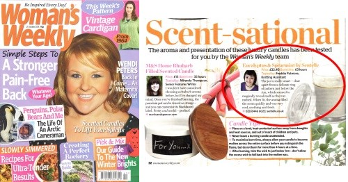 Womans Weekly features Sentelle Soy Candles