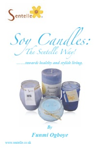Soy Candles the Sentelle way - book cover