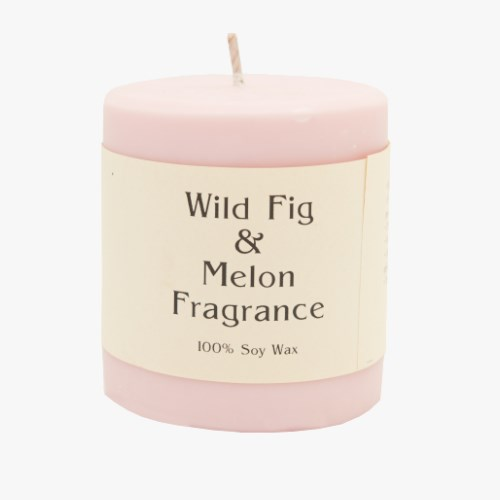 Wild Fig & Melon 14oz Pillar Soy Candle