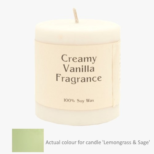 Lemongrass and Sage 14oz Pillar Soy Candle