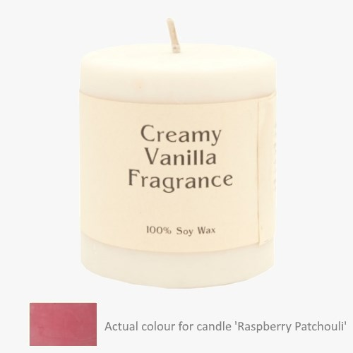 Raspberry Patchouli 14oz Pillar Soy Candle